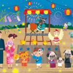 ゾエティスオリジナルカレンダー 7月8月のイラスト