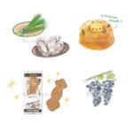 ScenicBywayに掲載された食べ物のイラストカット