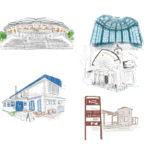 ScenicBywayに掲載された建物のイラストカット